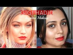 Gigi Hadid Inspired Makeup Tutorial - IHeartRadioAwards - YouTube