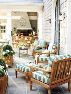 Spa stripe outdoor furniture