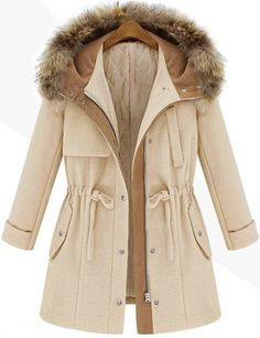 Shop Beige Hooded Dr