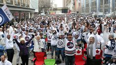 Winnipeg Whiteout Street Party a hit with thousands of Jets fans Jets Hockey, Jet Fan, Canada, Nfl Fans, Historical Sites, White Out, Nhl, Awesome, Amazing