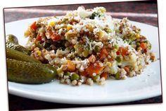 Zapečená pohanka se zeleninou a parmazánem Buckwheat, Fried Rice, Grains, Food And Drink, Health Fitness, Gluten Free, Vegetarian, Snacks, Meals