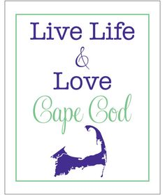 live life and love CAPE COD massachusetts map 8 by LiveLifeAndLove, $10.75