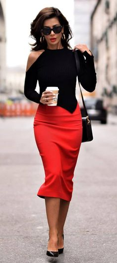 black+and+red+outfit_top+++bag+++heels+++pencil+skirt