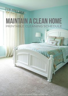 Printable Cleaning Schedule: Do you have a cleaning schedule? What cleaning tips do you have to maintain a clean home?