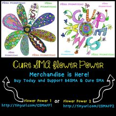 Support and buy your merchandise today! Spinal Muscular Atrophy, Flower Power, Families, The Cure, Flowers, How To Make, Kids, Stuff To Buy, Design