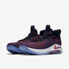 new styles 75308 bd8b5 Nike Lebron 15 Low Super Nova Sizes 8.5-14 Mens New Red Black White Purple