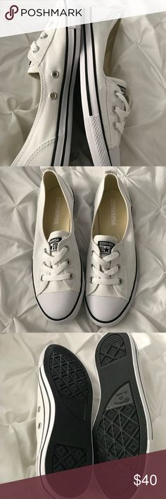 New CONVERSE BALLET LACE SLIP white and gray pair New CONVERSE BALLET LACE SLIP white and gray pair each 40$ Converse Shoes Sneakers