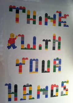 Think with your hands :-)