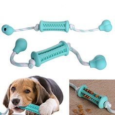 Toy Rope for Dogs - Dental Treat, Bite Resistant, Indestructible Non-Toxic Strong Tooth Cleaning Dog Toy Balls for Pet Training, Playing, Chewing - Soft Rubber, Bouncy, Tennis Ball >>> Read more reviews of the product by visiting the link on the image.