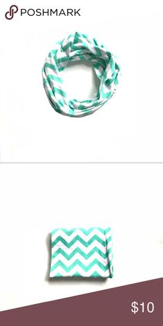 Girls aqua & white chevron infinity scarf •Girls white & aqua chevron infinity scarf  •New without tags •I am a: Posh Ambassador, top 10% seller, top rated seller, Posh mentor & ship same day/next day!  ⭐️❤️FREE Matching hair accessory with purchase!❤️⭐️ •Smoke & pet free home •Browse my closet for dozen of amazing designers such as.. tucker + Tate, Tea Collection, Mini Boden, UGG, GAP, Juicy Couture, Lululemon & many more! Accessories