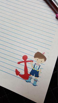 Printable Stationery Nautical Sailor Girl   Penpals   Pinterest ...