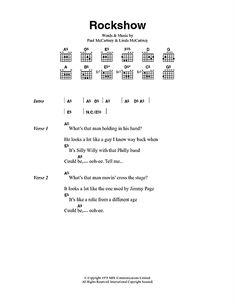 Rockshow Sheet Music Venus And Mars, Paul Mccartney, His Hands, Sheet Music, Guys, Words, Sons, Music Sheets, Horse