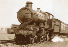 "Great Western Railway Star Class 4-6-0 express passenger locomotive 4057 ""Princess Elizabeth"" - pictured left at the head of an express train -was delivered new to Old Oak Common Depot in July 1914 and withdrawn by British Railways from Swindon in February 1952"