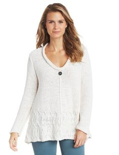 Pure Handknit Womens Epicure Pullover, Local Cream, Large/X-Large Amazon Clothes, Thing 1, Textile Design, Hand Knitting, Pullover Sweaters, Sweaters For Women, Tunic Tops, Pure Products, Lace