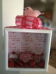 Valentine Shadow Box original by MummyMoniques on Etsy, $20.00