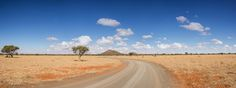 A dirt track stretches to the horizon in the Northern Cape, South Africa Dirt Track, South Africa, Stretches, Landscapes, Scenery, Southern, Country Roads, African, Paisajes