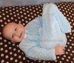 When our little guy outgrew his 0-9 mo sleep sack at age 6 mo, I came up with this pattern for a new one that will be plenty long for his gr...