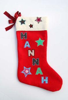 Luxury Personalised Handmade Christmas Stocking Gift - Name: Hannah Roses Luxury, Vintage Fabrics, Handmade Christmas, Christmas Time, Christmas Stockings, Handmade Gifts, Holiday Decor, Strength, Banana