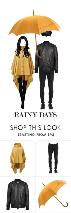 """Rainy Days"" by deadlynight ❤ liked on Polyvore featuring Lemaire, G-Star, Helmut Lang and Hermès"