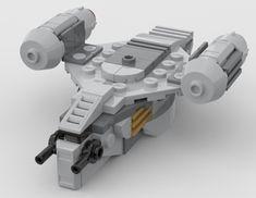 Lego Mandalorian, Lego Stormtrooper, Cool Lego, Awesome Lego, Lego Star Wars Mini, Lego Sculptures, Micro Lego, Lego Ship, Lego Spaceship