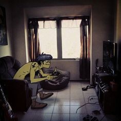 Murdoc jugando play station Murdoc Gorillaz, Gorillaz Fan Art, Russel Hobbs, Play That Funky Music, Music Illustration, Jamie Hewlett, Funny As Hell, Emo Boys, A Cartoon