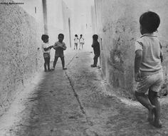 children playing at the streets of the old medina in Assilah