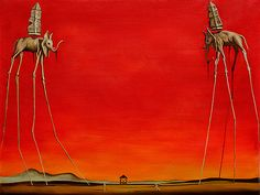Most of my younger work was inspired by this man.... The Elephants - Dali