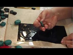 Polymer clay tutorial Faux Turquoise Part 2 - YouTube