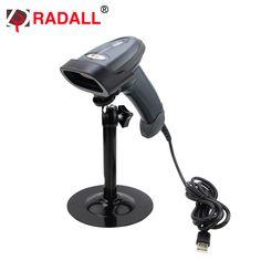 Frete grátis! RD-1330 Automático Handfree Leitor de Código de Laser Com Fio Plug and Play Auto Scanner de código de Barras com Berço para Suermaket