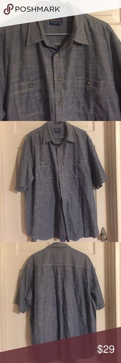 🐞NWOT Men's Pendleton Berkeley Shirt. Size XXL 🐞NWOT Men's Pendleton Berkeley Shirt. Size XXL. 100% cotton. Blue chambray short sleeve shirt. New condition. Pendleton Shirts Casual Button Down Shirts