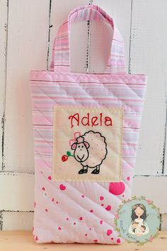 Personalized unique tote bag for little girls  by MainileMamei