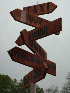 Taxi, Direction Signs, Upcycled Crafts