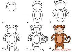Mooi en schattig aapje tekenen? Volg dan deze stappen.