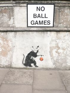 Banksy with a ball Banksy Graffiti, Beautiful Streets, Stencils, Street Art, Artist, Pictures, Image, Games, Random
