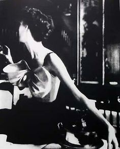 Lillian Bassman, Across the Resturant, Paris, Harper's Bazaar, gelatin silver print