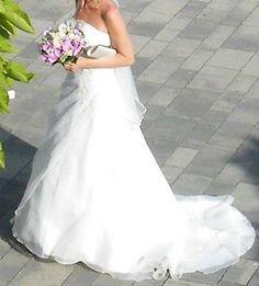 ♥ schulterfreies Brautkleid mit Schnürung & Schleppe, inkl. Schleier und Reifrock ♥  Ansehen: http://www.brautboerse.de/brautkleid-verkaufen/schulterfreies-brautkleid-mit-schnuerung-schleppe-inkl-schleier-und-reifrock/   #Brautkleider #Hochzeit #Wedding