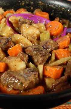 Old fashioned beef stew with fork-tender meat, full of flavor. Old fashioned beef stew with fork-tender meat, full of flavor. Slow Cooker Recipes, Beef Recipes, Soup Recipes, Dinner Recipes, Cooking Recipes, Healthy Recipes, Recipies, Recipes For Stew Meat, Dinner Ideas