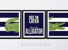 See Ya Later Alligator wall art