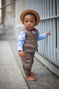 Fancy - Toddler Herringbone Vest