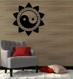 Wall Decal Mantra Yoga Mandala Zen Buddhism Vinyl Stickers (ig2767) #Wallstickers4you