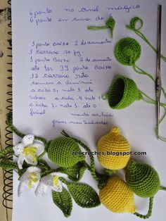 zelicroches: PAP limão de crochê e maracujá de crochê