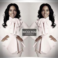 Nicci Hou Collection Signature Peplum Bow Dress