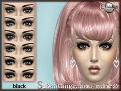 JomsimsCreations : Submitting eyelashes + eyeliner.