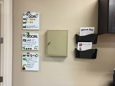 Another idea I did for goal boards when you do not have a lot of space!