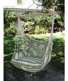 Magnolia Casual Summer Stripe Hammock Chair With Pillow Set   Hammock Chairs  U0026 Swings At Hayneedle