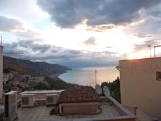 view from my hotel in Taormina.