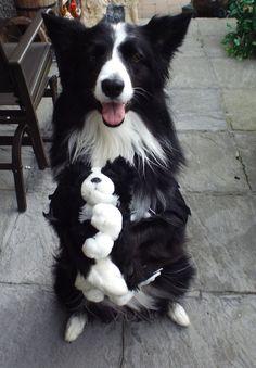 Asha holding her puppy...Happy Halloween...