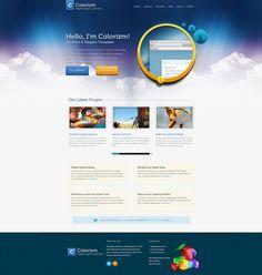 Colorizm - Elegant Colorful Template by ~faizalqurni #webdesign #trends