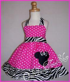 Minnie Mouse Dress Birthday Custom Boutique Children por amacim