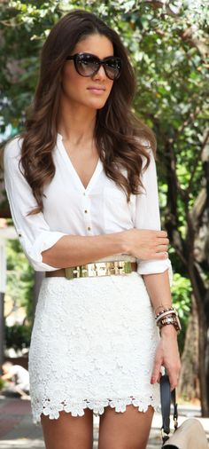 Forever 21 White Lace Skirt by Super Vaidosa